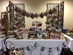 Craft stall at Xscape Craft Fair May 2013