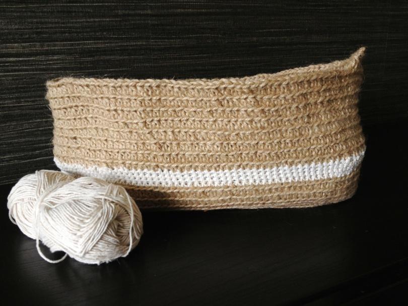 Crochet shopping bag progress