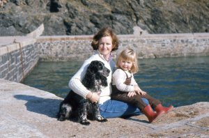 My and my mummy. About 1977 on holiday in Cornwall