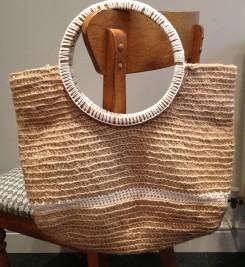 Crochet twine tote bag