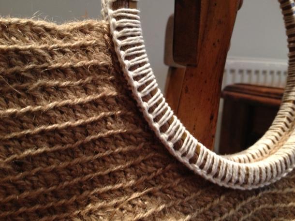 Crochet bag handle