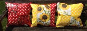 Oil cloth cushions