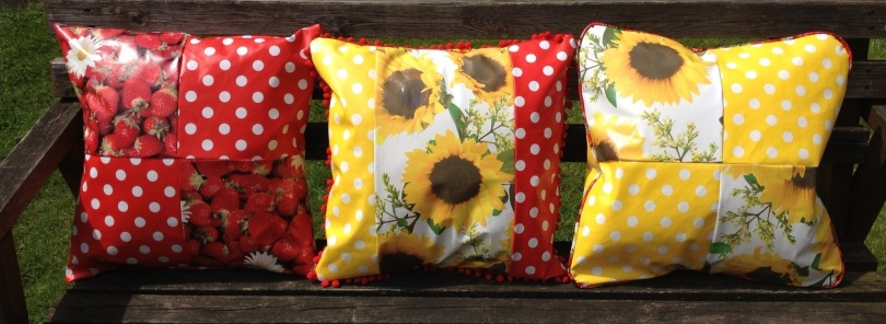 Oil cloth cushions