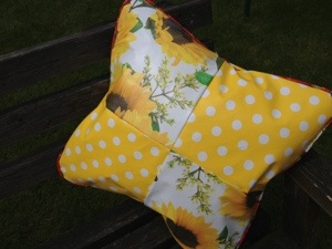 Sunflower oil cloth cushion