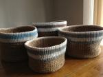 Crochet baskets now onFolksy!