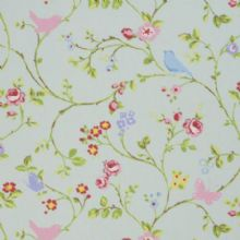 Bird trail oilcloth in seafoam