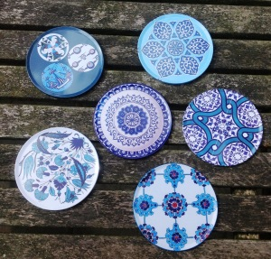 Simple Turkish print coasters