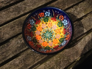 Hand decorated bowls, Kalkan, Turkey