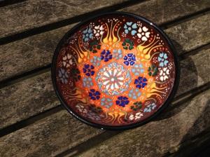 Hand decorated bowls, Kalkan, Turkey