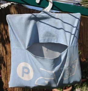 Ugly old peg bag