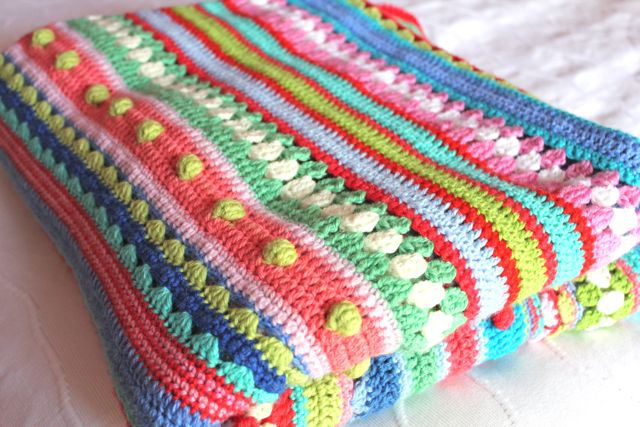 Beautiful stripy blanket by littlewooliie