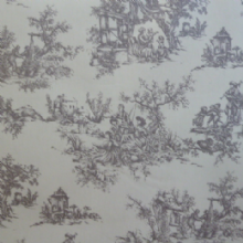 Grey toile matt oilcloth