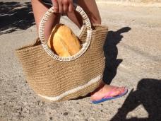 Crochet garden twine bag