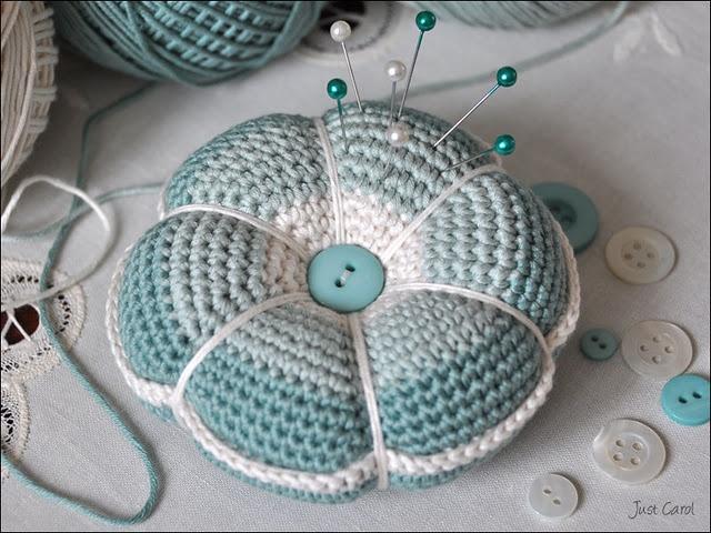 Beautiful Crochet Pin Cushion by 'Just Carol'