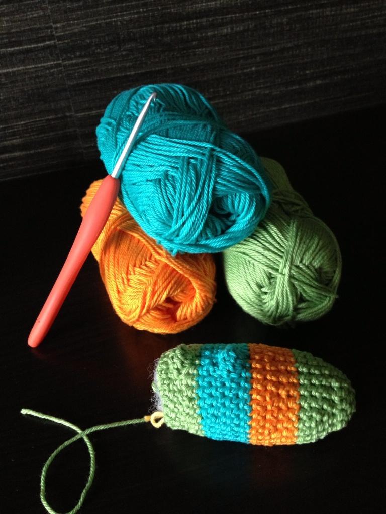 Crochet gecko head