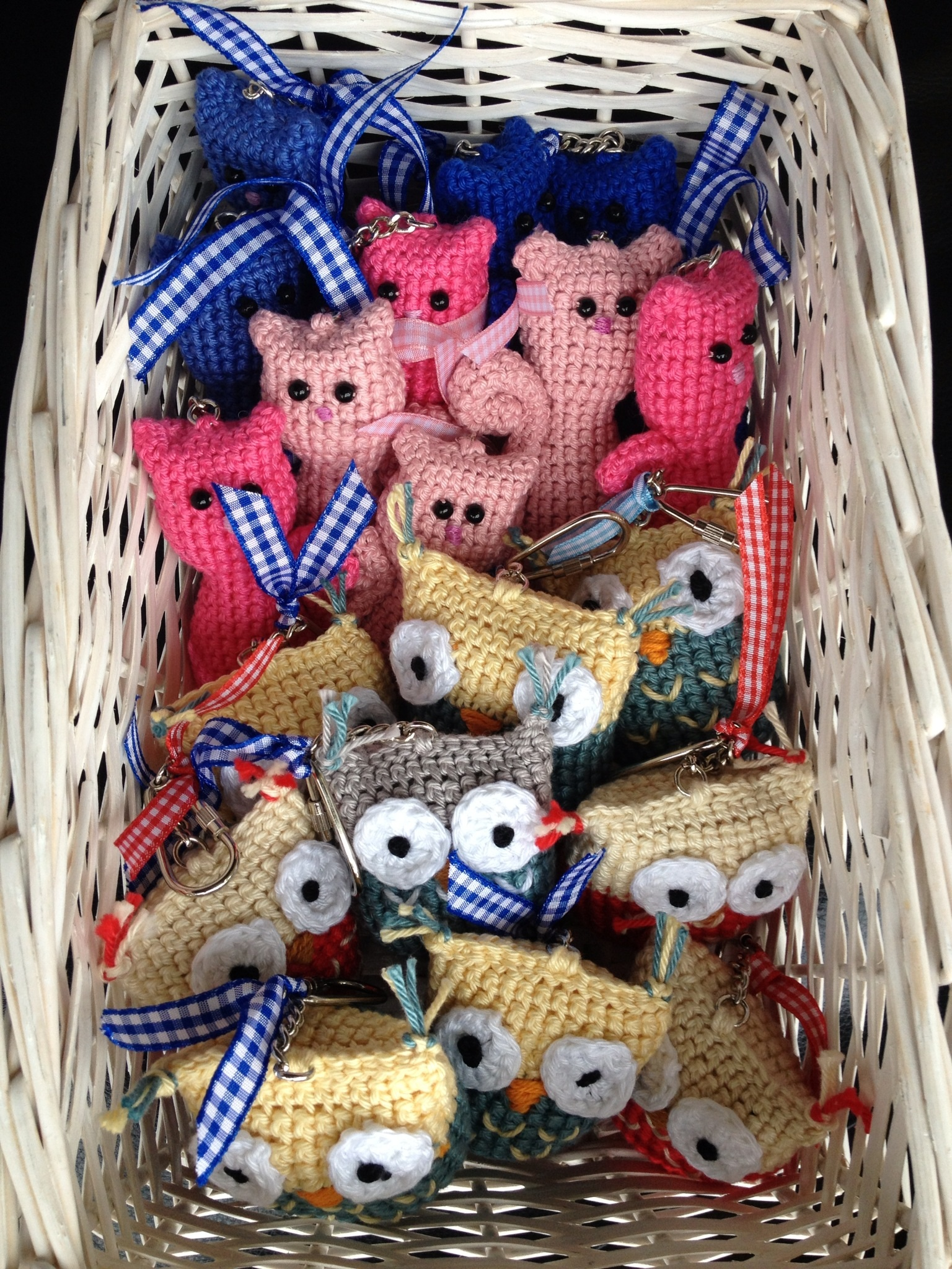 Crochet Bag Charms Ready For The Emley Moor Agricultural Show Craft Fair Tent