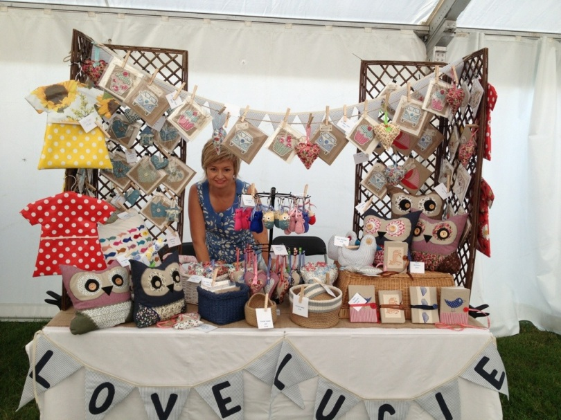 All hopeful at the start of the day at Emley Show Craft Fair