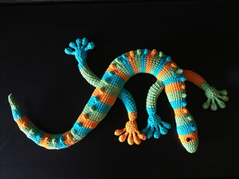 My crochet gecko
