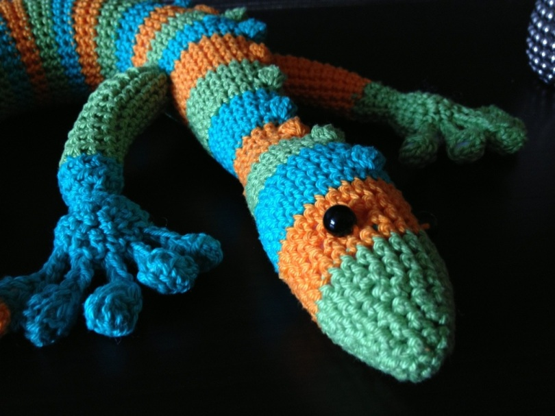 Crochet gecko