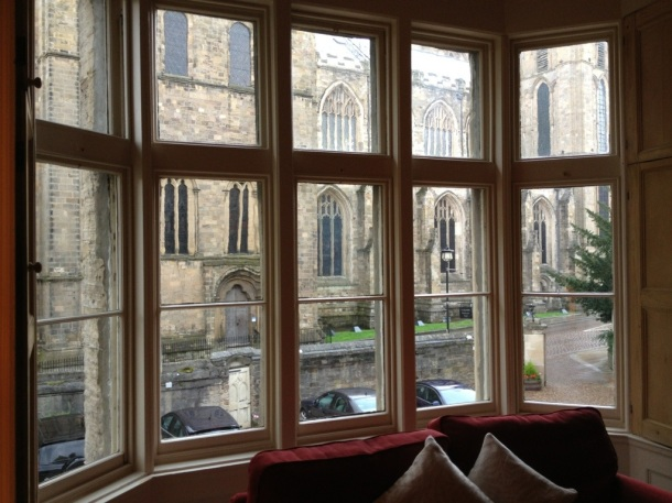 Ripon Cathedral through our bedroom window