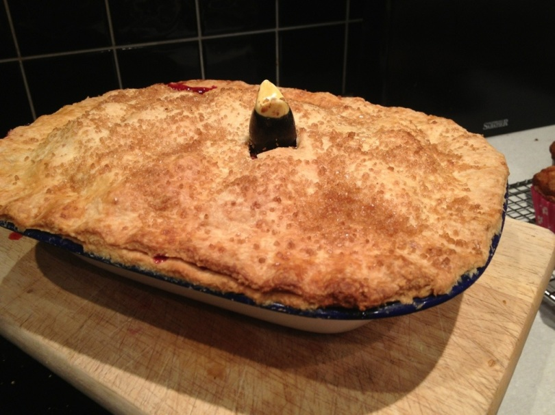 Blackberry and Apple Pie. Recipe taken from Pie by Angela Boggiano