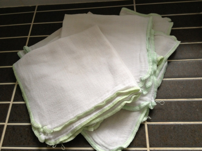 Ugly old muslin face cloths