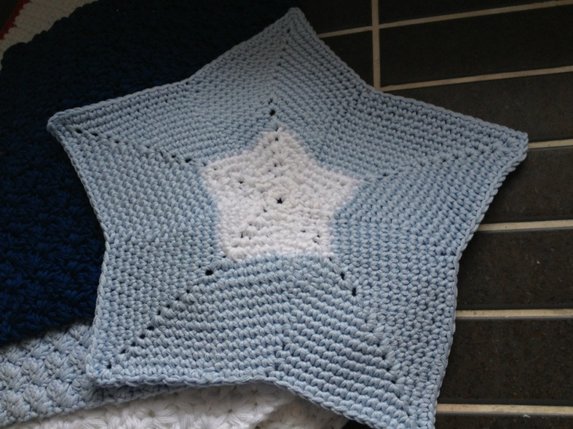 Star crochet face cloth