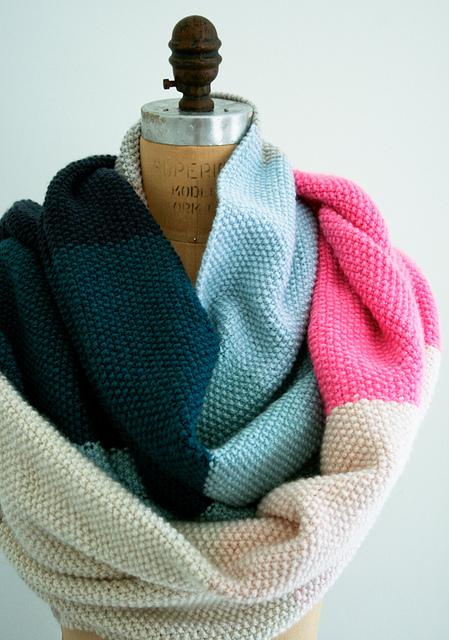 Seed stitch wrap by Purl Soho