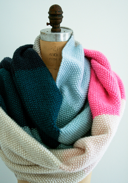 Seed stitch wrap by Purl Soho