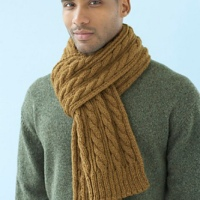 Cable scarf - the penultimate session