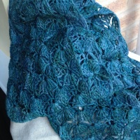 Lace crochet scarf complete!