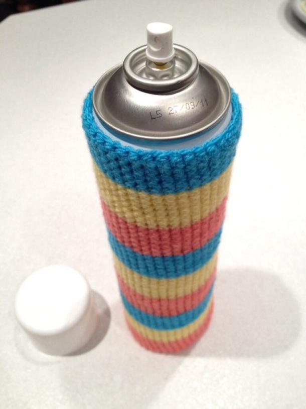 Crochet de-icer sock