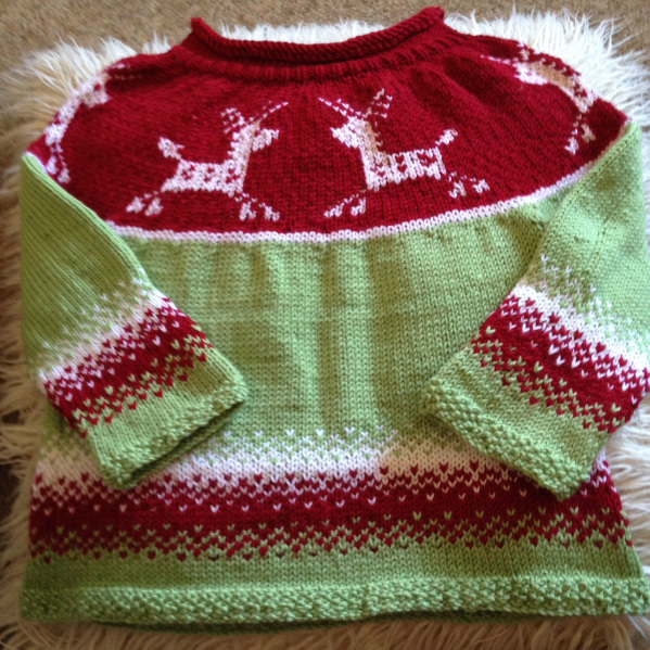 Christmas jumper by Mollie and Claire