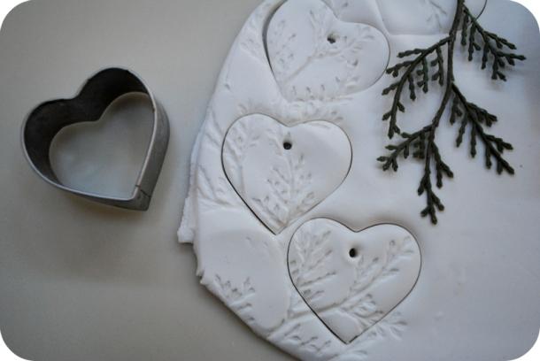 Clay hearts by gardenmama