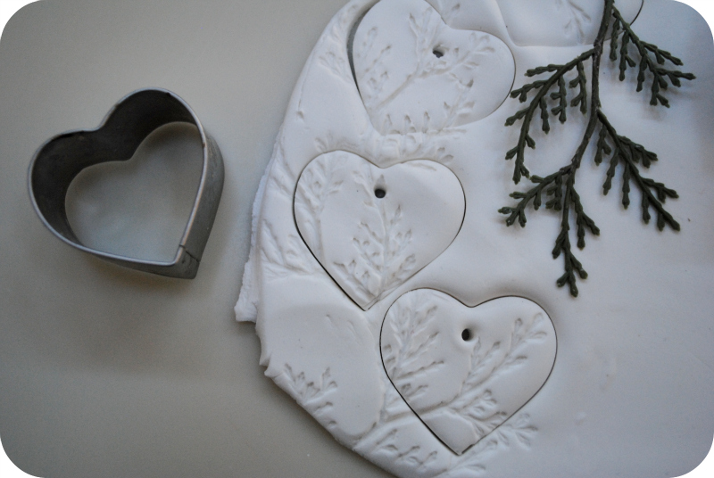 Clay hearts by gardenmama