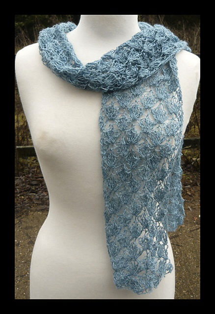 ANGEL crochet lace scarf by Amanda Perkins