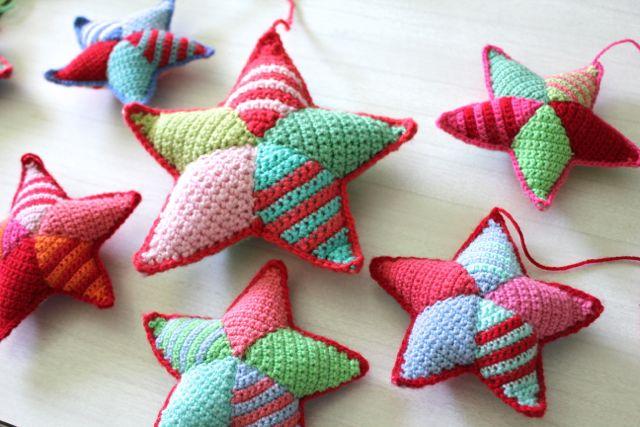 Littlewoolie crochet stars
