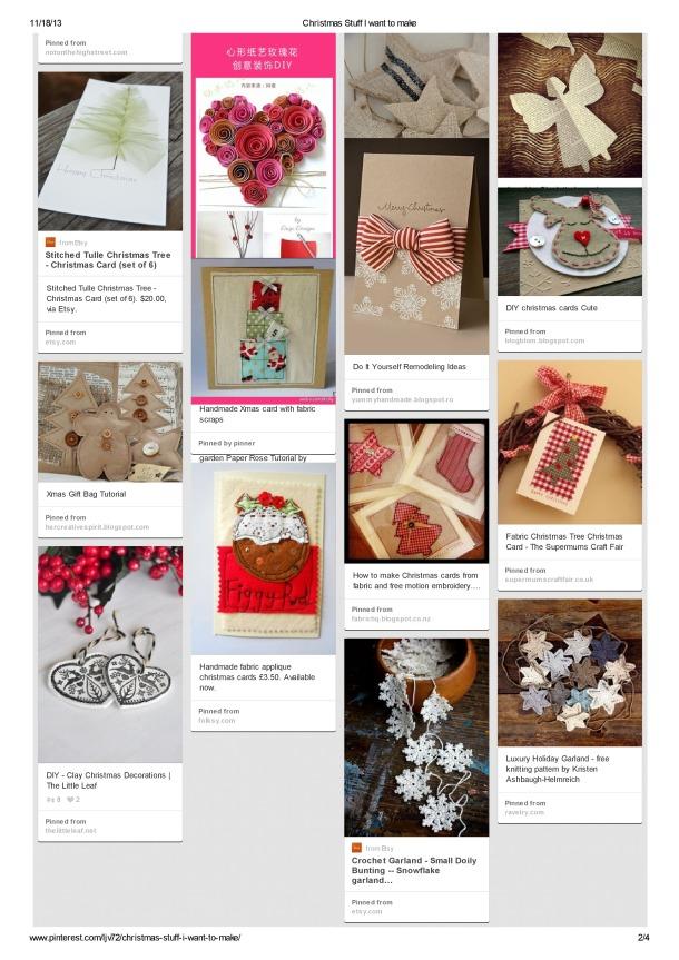 Christmas stuff I want to make