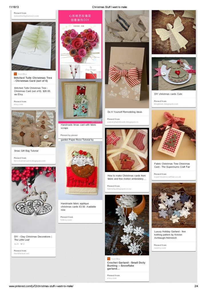 Christmas stuff I want to make