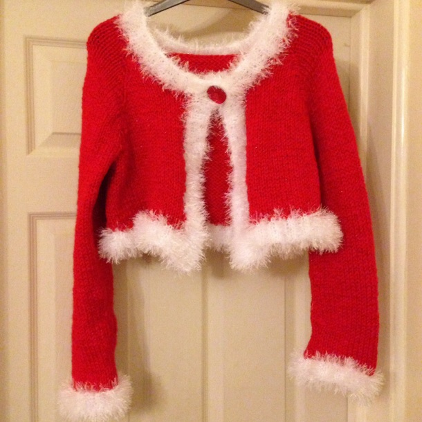 Christmas cardigan by 'Mollie and Claire'