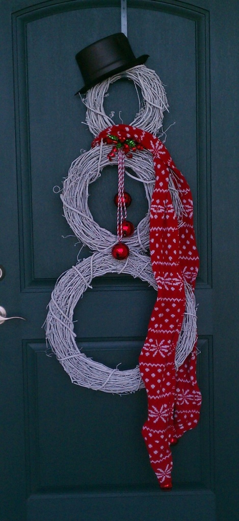 Snowman wreath - source unknown