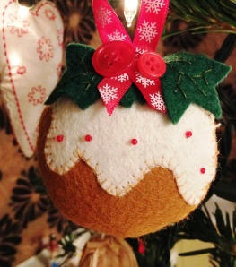 This is my favourite. We made a dozen of these felt puddings to giveaway last Christmas