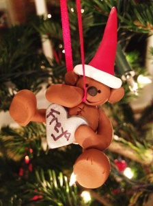 Fimo Christmas teddy