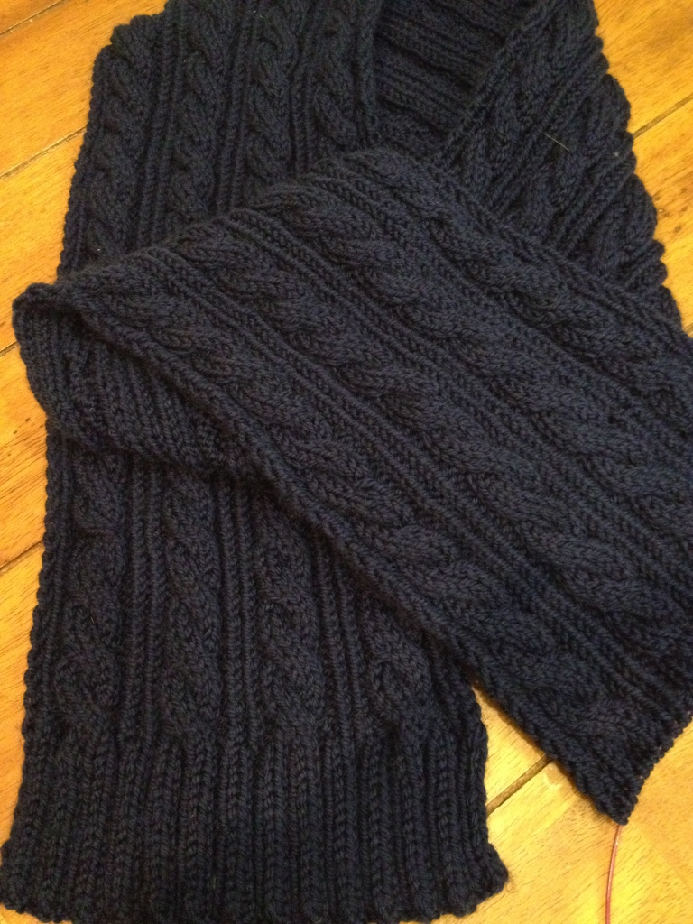 My Classic Cable scarf