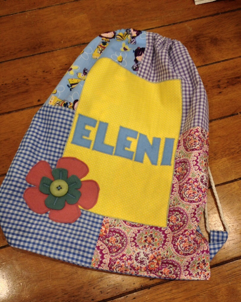 Eleni's drawstring bag