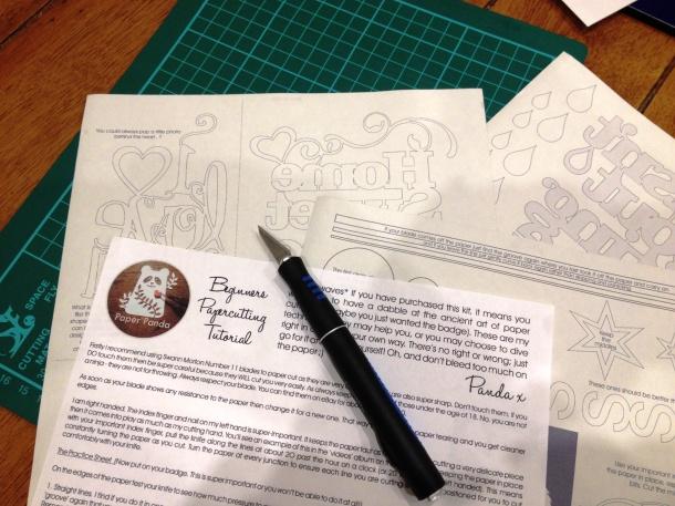 Paper Panda Papercutting kit