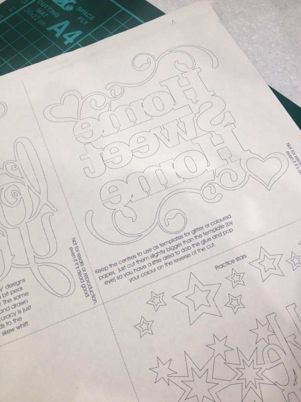 Papercutting practice