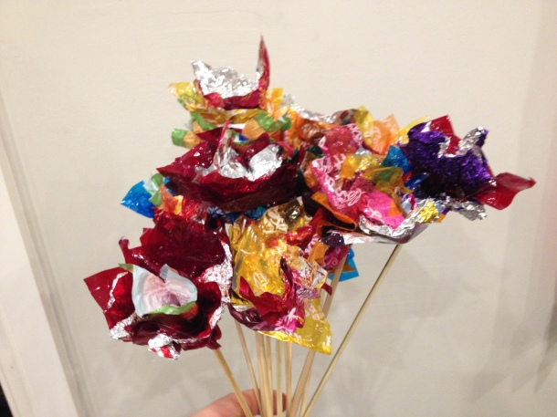 Chocolate wrapper bouquet