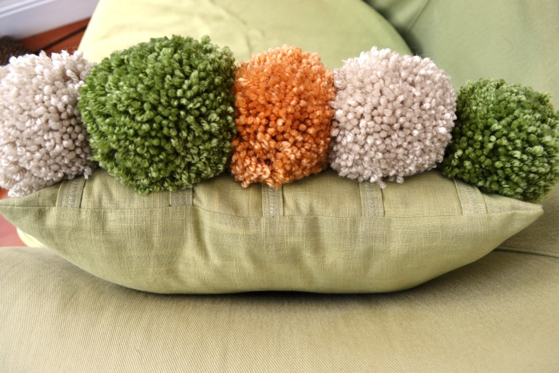 Love Lucie Pom Pom Cushion