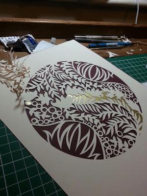 Paper Panda papercut